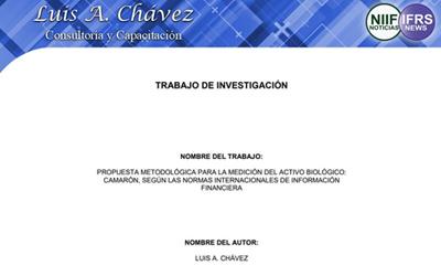 Propuesta metodológica para la medición del activo biológico 'camarón' de conformidad con las NIIF®